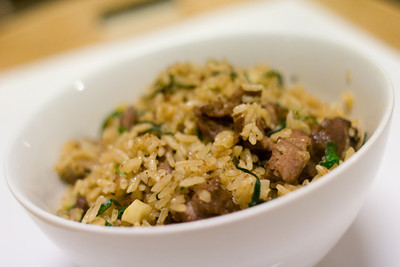 steak and chives fried rice