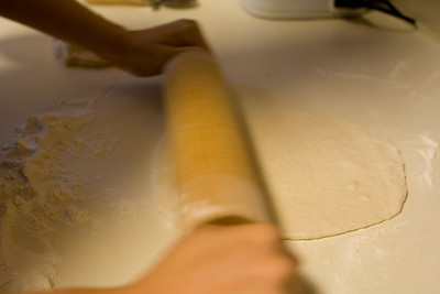 rolling out dough